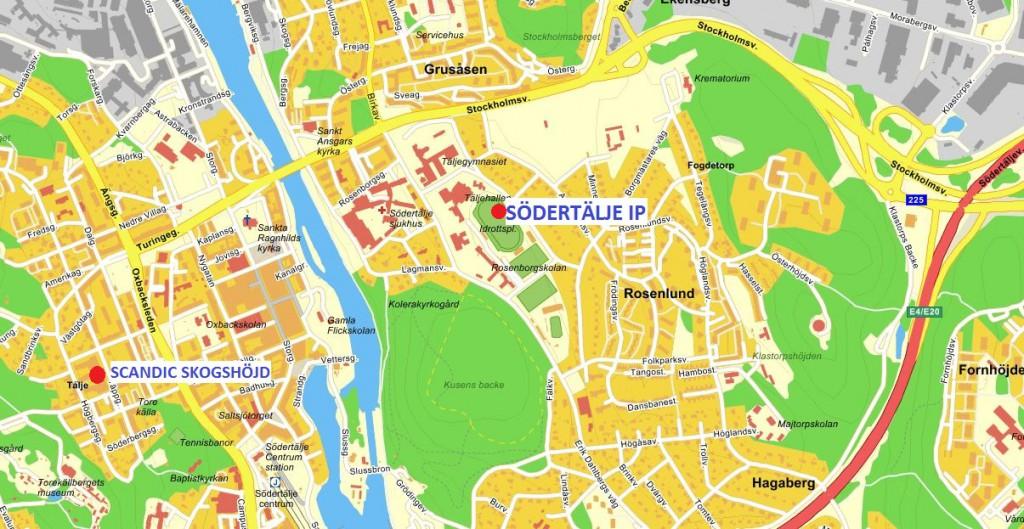 karta södertälje ip scandic